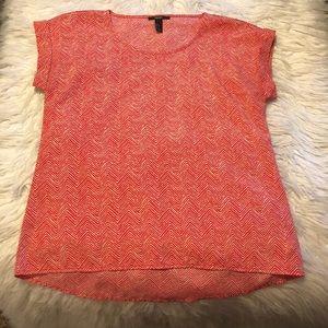 Forever 21 orange print blouse